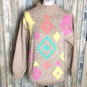 Colorful Print Sweater